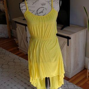 Yellow high low dress